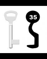 Buntbartschlüssel BKS Nr. 35