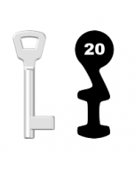 Buntbartschlüssel KIMA Nr. 20