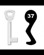 Buntbartschlüssel KIMA Nr. 37