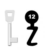 Buntbartschlüssel Schulte Schlagbaum Nr. 12