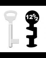 Buntbartschlüssel BKS Nr. 12½ (Abbildung von der Ringseite aus gesehen)