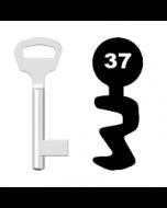 Buntbartschlüssel BKS Nr. 37 (Abbildung von der Ringseite aus gesehen)