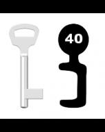 Buntbartschlüssel BKS Nr. 40 (Abbildung von der Ringseite aus gesehen)