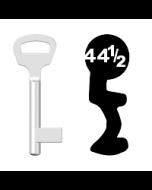 Buntbartschlüssel BKS Nr. 44½ (Abbildung von der Ringseite aus gesehen)