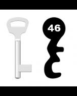 Buntbartschlüssel BKS Nr. 46 (Abbildung von der Ringseite aus gesehen)