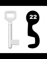 Buntbartschlüssel Dörrenhaus Nr. 22