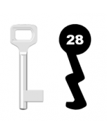 Buntbartschlüssel Dörrenhaus Nr. 28 (Abbildung von der Ringseite aus gesehen)