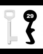 Buntbartschlüssel Dörrenhaus Nr. 29 (Abbildung von der Ringseite aus gesehen)