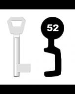 Buntbartschlüssel KFV Nr. 52 (Abbildung von der Ringseite aus gesehen)