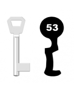Buntbartschlüssel KFV Nr. 53 (Abbildung von der Ringseite aus gesehen)