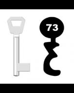 Buntbartschlüssel KFV Nr. 73 (Abbildung von der Ringseite aus gesehen)