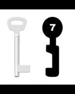 Buntbartschlüssel Kale Nr. 7 (Abbildung von der Ringseite aus gesehen)