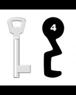 Buntbartschlüssel KIMA Nr. 4 (Abbildung von der Ringseite aus gesehen)