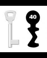 Buntbartschlüssel KIMA Nr. 40 (Abbildung von der Ringseite aus gesehen)