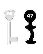 Buntbartschlüssel KIMA Nr. 47 (Abbildung von der Ringseite aus gesehen)