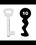 Buntbartschlüssel Nemef Nr. 10 (Abbildung von der Ringseite aus gesehen)