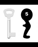 Buntbartschlüssel Nemef Nr. 5 (Abbildung von der Ringseite aus gesehen)