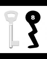 Buntbartschlüssel Nemef Nr. 8 (Abbildung von der Ringseite aus gesehen)