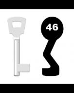 Buntbartschlüssel Pegau Nr. 46 (Abbildung von der Ringseite aus gesehen)