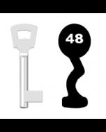 Buntbartschlüssel Pegau Nr. 48 (Abbildung von der Ringseite aus gesehen)