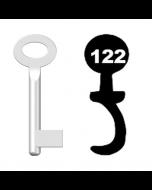 Buntbartschlüssel Standard Nr. 122 (Abbildung von der Ringseite aus gesehen)