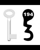 Buntbartschlüssel Standard Nr. 194 (Abbildung von der Ringseite aus gesehen)