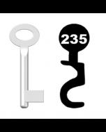 Buntbartschlüssel Standard Nr. 235 (Abbildung von der Ringseite aus gesehen)