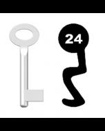 Buntbartschlüssel Standard Nr. 24 (Abbildung von der Ringseite aus gesehen)