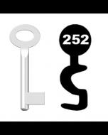 Buntbartschlüssel Standard Nr. 252 (Abbildung von der Ringseite aus gesehen)