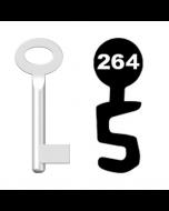 Buntbartschlüssel Standard Nr. 264 (Abbildung von der Ringseite aus gesehen)