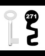 Buntbartschlüssel Standard Nr. 271 (Abbildung von der Ringseite aus gesehen)