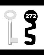 Buntbartschlüssel Standard Nr. 272 (Abbildung von der Ringseite aus gesehen)