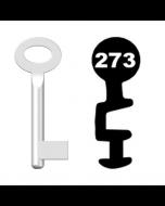 Buntbartschlüssel Standard Nr. 273 (Abbildung von der Ringseite aus gesehen)