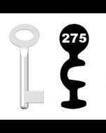 Buntbartschlüssel Standard Nr. 275 (Abbildung von der Ringseite aus gesehen)