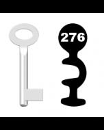 Buntbartschlüssel Standard Nr. 276 (Abbildung von der Ringseite aus gesehen)