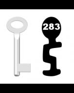 Buntbartschlüssel Standard Nr. 283 (Abbildung von der Ringseite aus gesehen)