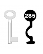 Buntbartschlüssel Standard Nr. 285 (Abbildung von der Ringseite aus gesehen)