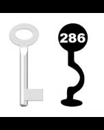 Buntbartschlüssel Standard Nr. 286 (Abbildung von der Ringseite aus gesehen)