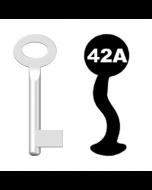 Buntbartschlüssel Standard Nr. 42a (Abbildung von der Ringseite aus gesehen)
