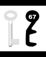 Buntbartschlüssel Standard Nr. 67 (Abbildung von der Ringseite aus gesehen)