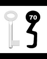 Buntbartschlüssel Standard Nr. 70 (Abbildung von der Ringseite aus gesehen)