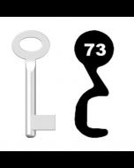 Buntbartschlüssel Standard Nr. 73 (Abbildung von der Ringseite aus gesehen)