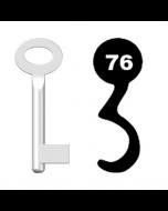 Buntbartschlüssel Standard Nr. 76 (Abbildung von der Ringseite aus gesehen)