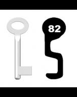Buntbartschlüssel Standard Nr. 82 (Abbildung von der Ringseite aus gesehen)