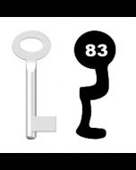 Buntbartschlüssel Standard Nr. 83 (Abbildung von der Ringseite aus gesehen)