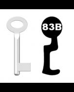Buntbartschlüssel Standard Nr. 83b (Abbildung von der Ringseite aus gesehen)