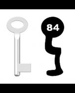 Buntbartschlüssel Standard Nr. 84 (Abbildung von der Ringseite aus gesehen)