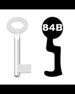 Buntbartschlüssel Standard Nr. 84b (Abbildung von der Ringseite aus gesehen)