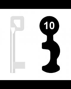Buntbartschlüssel BASI Nr. 10 (Abbildung von der Ringseite aus gesehen)