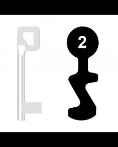 Buntbartschlüssel BASI Nr. 2 (Abbildung von der Ringseite aus gesehen)